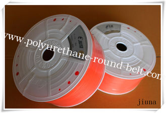 China Orange Polyurethane Round Belt High Impact Resistance 85A - 90A Hardness supplier