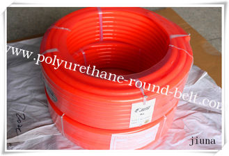 China Orange Polyurethane Round Belt Diameter 15mm With Surface Smooth supplier