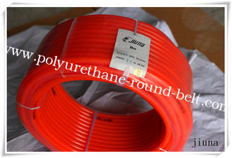 China 50m Per Roll Round Pu Extruded Belt Diameter 10 Mm - 16 Mm Orange supplier