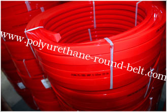 China Red Transmission Polyurethane Flat Belt Low Compression Set Industry Textile Machines supplier