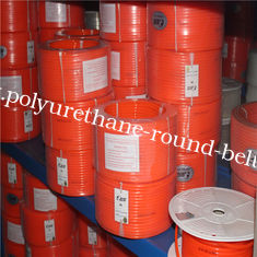China Smooth Pu Round Belting In Roll With High Stretch , Orange Color supplier