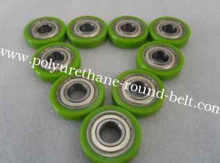 China Erosion resistant Polyurethane Wheels Industrial Bisque PU Coating With Iron Core supplier