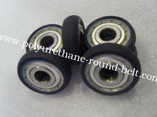 China Iron Core Coating PU Polyurethane Wheels Aging Resistant With Industrial Bisque supplier