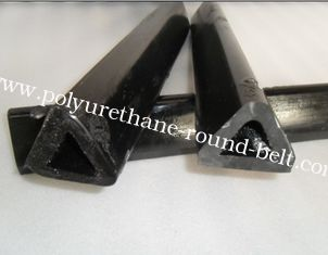 China Industrial Polyurethane Tubing , Injection Molding PU Polyurethane Black Triangle Pipe supplier