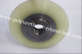 China Single Polyurethane Wheels Abrasion Resistant PU Rollers Wheelsnon-woven Flap Brush supplier