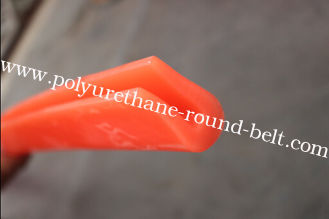 China Red Anti-abrasion Extruded Polyurethane U Profile Conveyor Belt For Printing Lines supplier