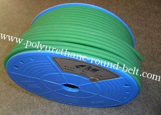 Tensile Strength Polyurethane Round Belt / Green PU Extruded Belt