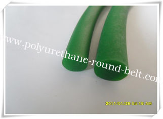 China PU Polyurethane Round Belt Good Resistance , Green Round Belt supplier