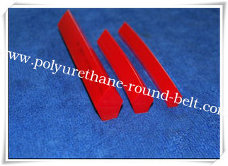 Red PU Pentagonal Belt / Polyurethane V Belt high tear strength for machines