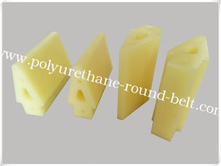China Solvent Resistant Screen Print Squeegee / Yellow Polyurethane Scraper supplier