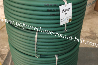 China Green High Tensile And Tear Strength Resistance To Oils Fuels  Polyurethane Round Belt  For Industrial supplier