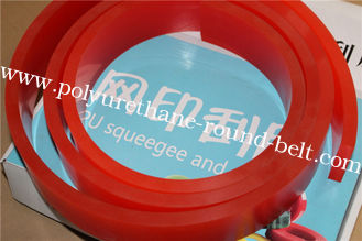 China Gum Rubber Red Screen Printing Squeegee Solvent Ink Solvent Resistance supplier