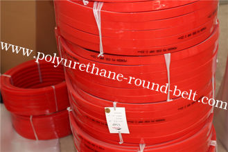China HighTensile And Tear Strength  Red Polyurethane V Belt  for Conveyor  Floor And Roof  Tiles Conveying supplier