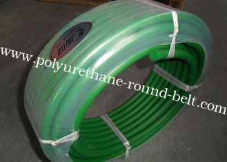 China Green color hardness 85A transmission belting and Polyurethane round belt poly cord supplier
