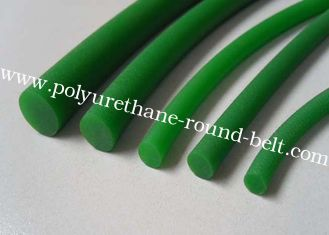 China Industrial Transmission Conveyor green rough PU Cord polyurethane round belt supplier