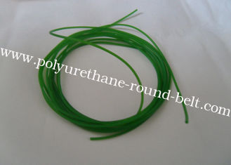 China Green and orange color smooth and rough Industrial Transmission urethane round belt Polyurethane Cord connected supplier