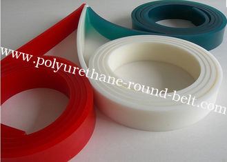 China Solvent Resistance Indstrial PU Polyurethane Flat Screen Printing Squeegee Scraper supplier
