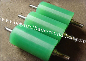 China Polyurethane Rollers Abrasion Resistant Colorful PU Polyurethane Coating Roller Wheels supplier