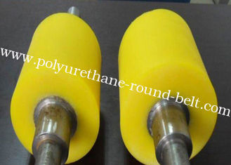 China OEM Industrial PU Polyurethane Coating Rollers Wheels Replacement Polyurethane Rollers supplier