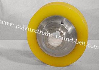 China Industrial PU Polyurethane Rollers Wheels for Conveyor , Oil resistant supplier