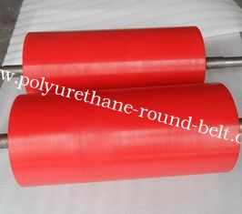 China High Anti Abrasion Industrial Red Polyurethane Roller Coating, Polyurethane Rollers supplier