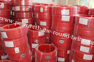 China Red Polyurethane PU extruded belt Hardness 90A Tear Strength supplier
