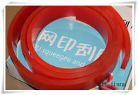 China High Wear Resistant Red Polyurethane Squeegee For Silk Screen Printing factory