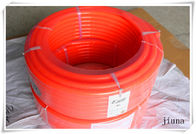 China Smooth round rubber belts / High tensile polyurethane cord 90A factory