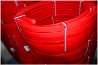 China Red Transmission Polyurethane Flat Belt Low Compression Set Industry Textile Machines factory