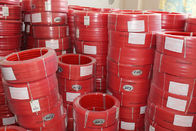 China Red Polyurethane PU extruded belt Hardness 90A Tear Strength factory