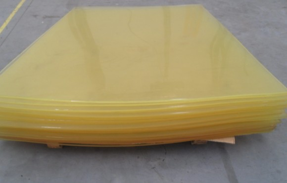 Elastic Industrial Polyurethane Rubber Sheet , Abrasion Resistant PU Wear Plate
