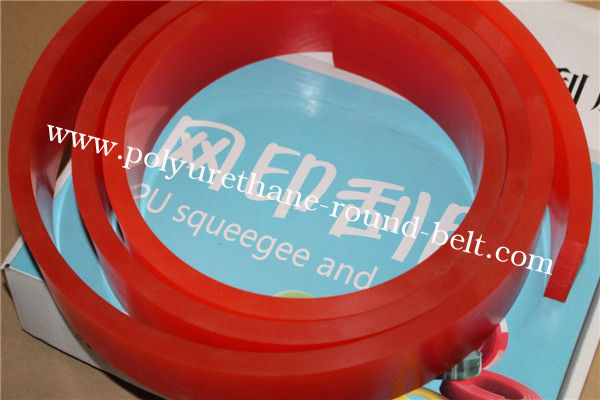 Gum Rubber Red Screen Printing Squeegee Solvent Ink Solvent Resistance