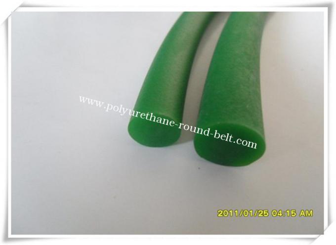 PU Polyurethane Round Belt Good Resistance , Green Round Belt
