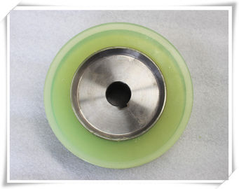 China Bisque Polyurethane Wheels Coating with Iron Core , Oil Resistant distributor