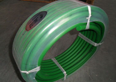 China Green color hardness 85A transmission belting and Polyurethane round belt poly cord distributor
