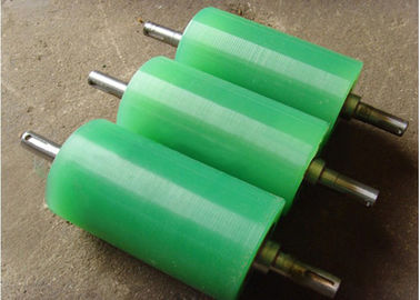 China Polyurethane Rollers Abrasion Resistant Colorful PU Polyurethane Coating Roller Wheels distributor