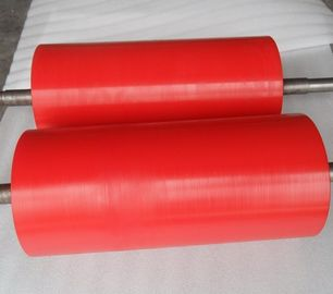 China High Anti Abrasion Industrial Red Polyurethane Roller Coating, Polyurethane Rollers distributor