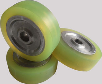 China Aging Resistant Industrial natural PU Polyurethane Wheels coating with Iron Core distributor