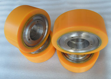 China Aging Resistant Industrial Bisque PU Polyurethane Wheels coating with Iron Core distributor