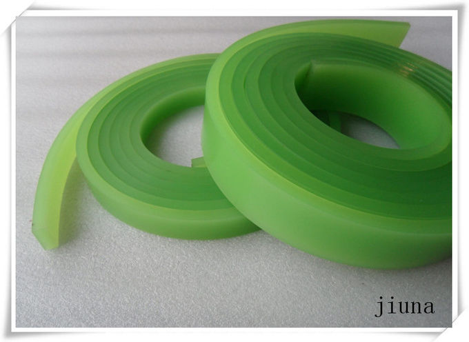 Red / Green Solvent Resistance Squeegee For Screen Printing 4 Meter , Anti-Oil