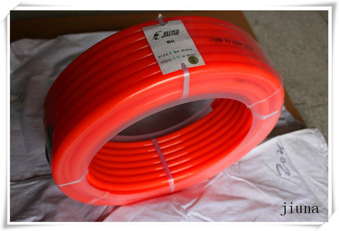 50m Per Roll Round Pu Extruded Belt Diameter 10 Mm - 16 Mm Orange