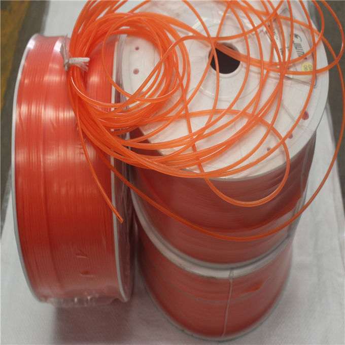Smooth Pu Round Belting In Roll With High Stretch , Orange Color