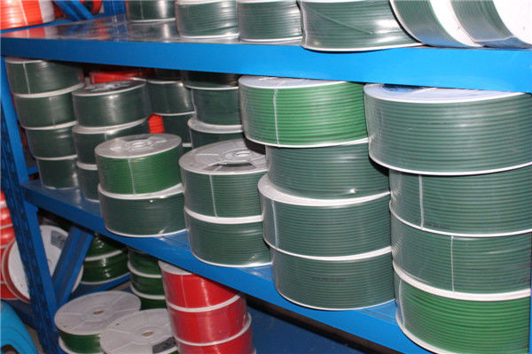 Green High Tensile And Tear Strength Resistance To Oils Fuels  Polyurethane Round Belt  For Industrial